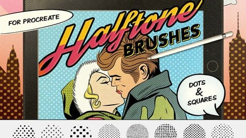 Dots & Squares Procreate Brushes