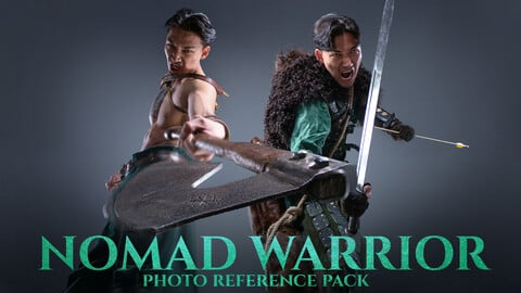 Nomad Warrior part.1 Photo Reference Pack for Artists 714 JPEGs