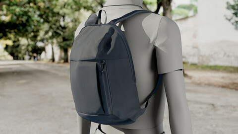 Realistic 3D model of Womens Backpack 5