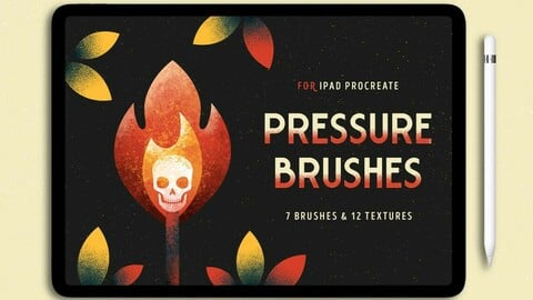 7 Procreate Brushes with Pressure Effect