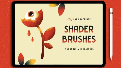 7 Procreate Brushes with Shader Texture