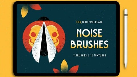 7 Procreate Brushes with Noise Texture