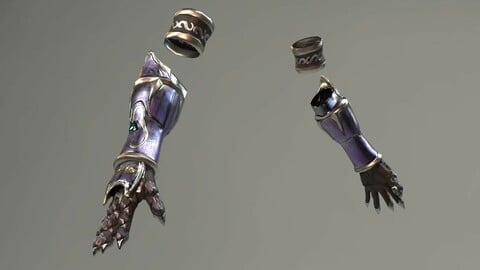Elf Female Hand Armor Set