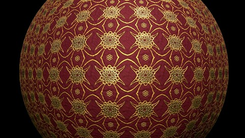 Gold Flowers Material