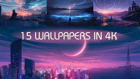 Wallpaper Pack 03 - 15 Artworks in 4K