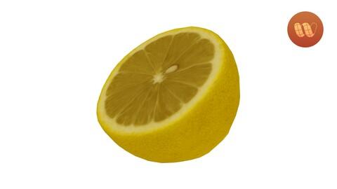 Half a Lemon - Half a Lemon 3D Scanned Model
