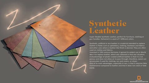 """PBR - ECO, SYNTHETIC,  LEATHER  """"7 COLORS """""""" - 4K MATERIALS"""