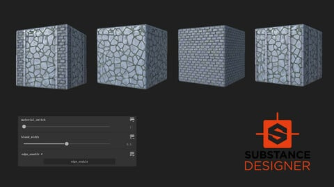 Genshin Style Procedural Rock Road Material