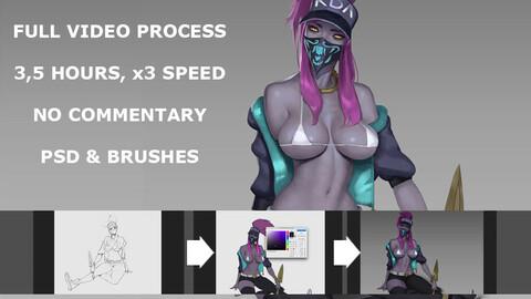 KDA video process