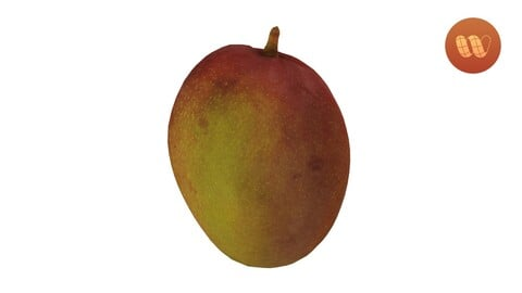 Tommy Atkins Mango - Real-Time 3D Scanned Model