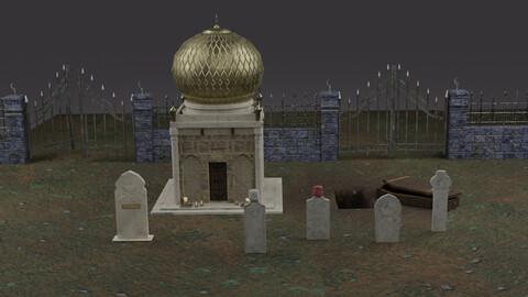Muslim Tomb Set 3D Model