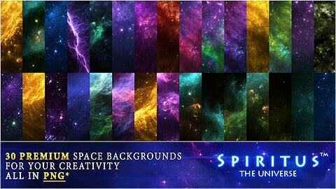 30 PREMIUM SPACE BACKGROUNDS - PACK 130