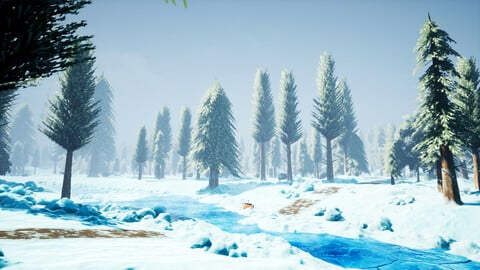 Stylized Snowy Environment - Unreal Engine 4
