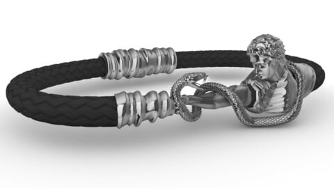 Bracelet with leather cord