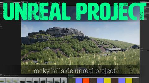 Rocky Hillside - UE4 Scene