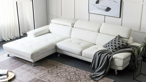 Jard 4 Seater Couch Leather Sofa 2colors