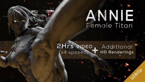Annie Female Titan - Redesign Speedsculpt in ZBrush