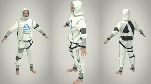 Men's clothing suit avatar Genesis 8 male. Marvelous designer, Clo3d
