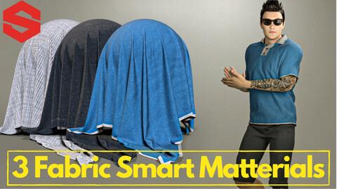 3 fabric smart material : Men's polo shirt & shorts