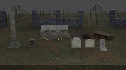 Jewish Tomb Set 3D Model