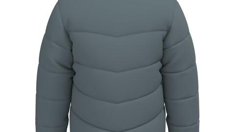 Down Jacket for CLO 3d and Marvelous Designer 3D model