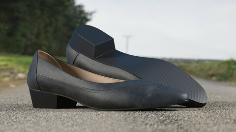Realistic 3D model of Womens Shoes 14