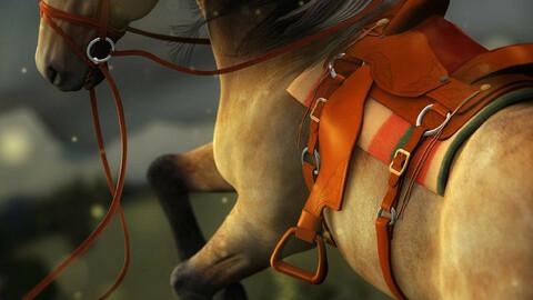 Western Saddle for DAZ Horse 2