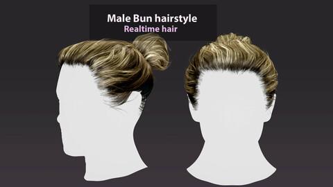 Male bun hairstyle