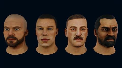 4 Male Heads