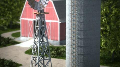 DAZ Water Pump and Grain Silo