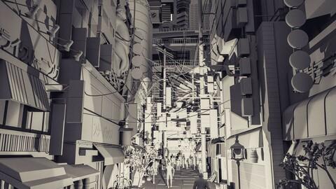 Tokyo street  3D Models