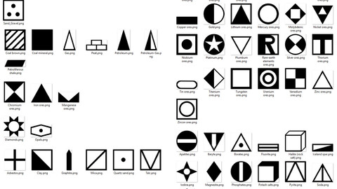 Minerals icons