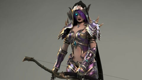 Elf Female Archer Warrior UE - Unity - Projects