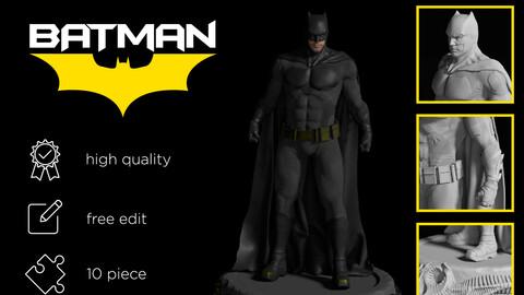 Batman figure Ben Affleck 3D print model