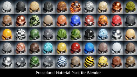 Procedural Material Pack for Blender