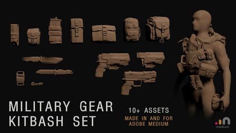 Military Gear Kitbash Set