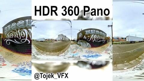 HDR 360 Panorama DTLA Graffiti Alley - Nipsey Hussle