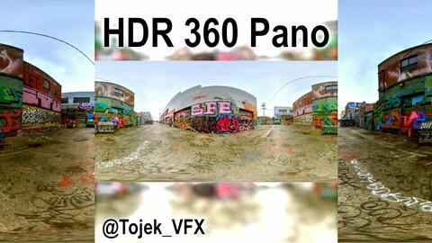 HDR 360 Panorama DTLA Graffiti Alley Cloudy 033 (Set pano 3 of 6)