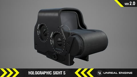 Holographic Sight S  - FPS Weapon Attachment [ Unreal Engine ]
