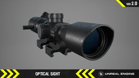 Optical Sight - FPS Weapon Attachment [ Unreal Engine ]