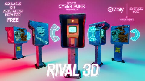 Stylized Cyber Punk - Phone Booth