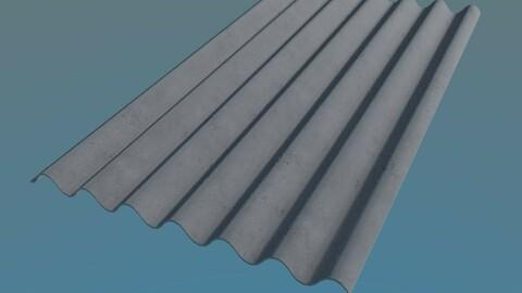 Slate Roof 980x1750mm 7 Waves