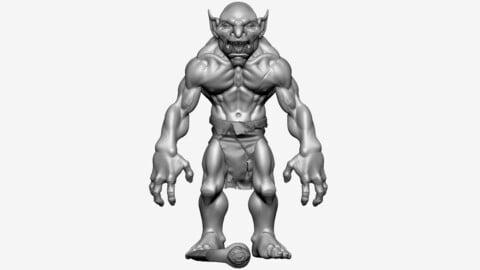 Troll Berserker - High poly