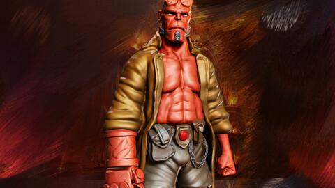 Hellboy Miniature 3D Print Toys/Collectibles