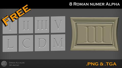 🏛️ [FREE] 8 Roman Number Alpha 4K