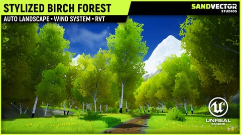 Stylized Birch Forest
