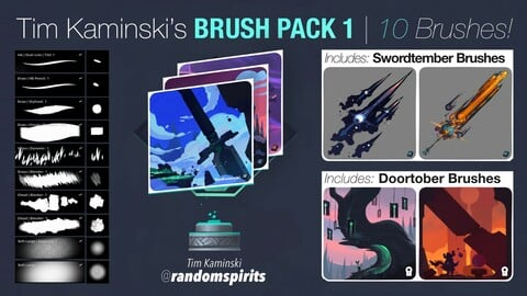 Brush Pack 1: Tim Kaminski's Procreate Brushes