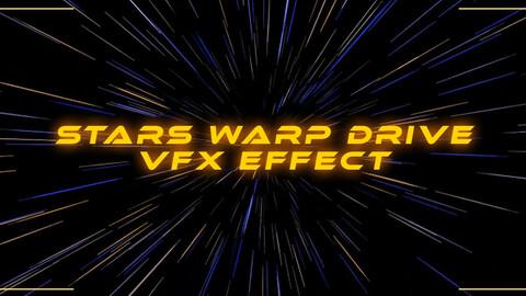 Stars Warp Drive Effect VFX Particle System
