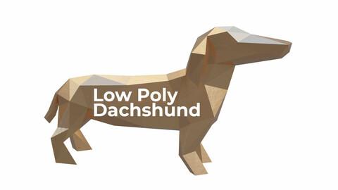 Low Poly Dachshund Dog