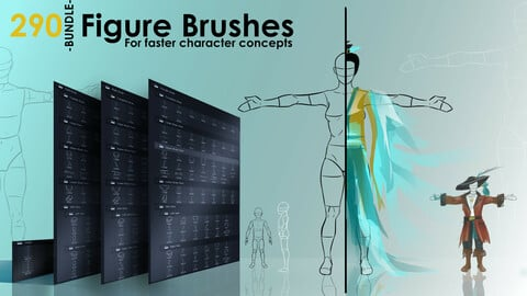 Figure Brushes - BUNDLE - 290 Brushes For Faster Character Concepts